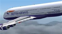 Screenshot of British Virtual Airways A380-100 in flight.