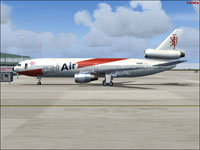 Screenshot of Cal Air Douglas DC-10 on the ground.
