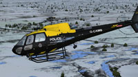 Screenshot of Cambridgeshire Police AS350 Ecureuil in flight.