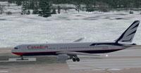 Screenshot of Canadian Boeing 767-375 ER on runway.