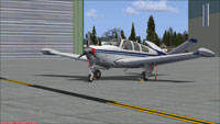 Screenshot of Carenado Beechcraft V35B on the ground.