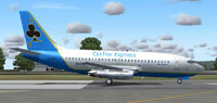 Screenshot of Casino Express Spade 737-200 on runway.