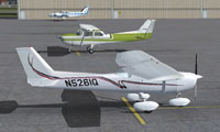 Screenshot of Cessna 150 on the ground.