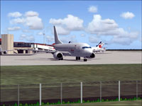 Screenshot of Citilink Garuda Boeing 737-300 on the ground.