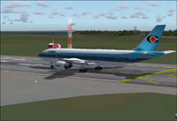Screenshot of Conair Airbus A300B4-200 on runway.