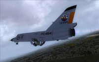Screenshot of Convair F-106A Delta Dart 'Geiger Tiger' in flight.