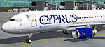Screenshot of Cyprus Airways Airbus A320 on the ground.