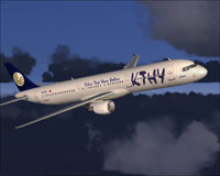 Screenshot of Cyprus Turkish Airlines A321-211 in flight.