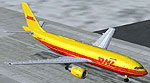 Screenshot of DHL Cargo Airbus A300B4-203 on runway.