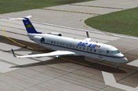 Screenshot of Dac Air CRJ 600-200 on runway.