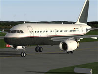 Screenshot of Daimler Chrysler Aviation A319-100 on ruwnay.
