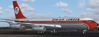 Screenshot of Dan-Air Boeing 707-121B on runway.