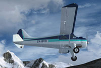Screenshot of DeHavilland DHC-2 Beaver ZK-BVR in flight.