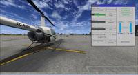 Screenshot of Robinson R22 and mod window.