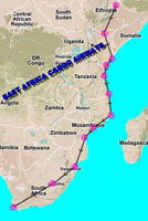'East Africa Cargo Airways Flight' map.