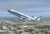 Screenshot of Eastern Airlines Lockheed L-1011 in flight.