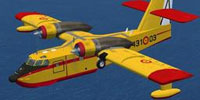 Screenshot of Ejercito del Aire Canadair CL-215 in flight.