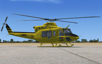 Screenshot of Elilario Italia Bell 412 on the ground.
