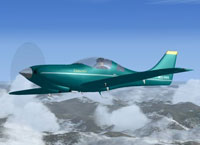 Screenshot of Emerald Lancair in flight.