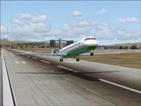 Screenshot of Eva Air McDonnell Douglas MD-90-30 taking off.