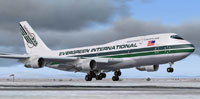 Screenshot of Evergreen Boeing 747-300 taking off.