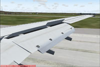 Screenshot of animated wing on Boeing 737.