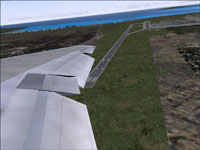 Animated wing view on DC-10.