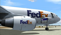 Screenshot of Federal Express Airbus A300B4-200 on the ground.
