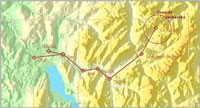 'French Alps Rescue Mission' route map.