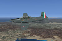 Screenshot of Fuerza Aerea Mexicana PC-9M in flight.