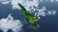 Screenshot of Fuerza Area Mexicana Su-27 in flight.