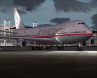 Screenshot of GE Aircraft's Test Boeing 747-200.