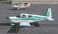 Screenshot of Grumman Tiger N6717F on the ground.