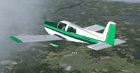 Screenshot of Grumman Tiger N7319H in flight.