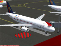 Screenshot of Grupo Taca Airbus A320-200 on the ground.