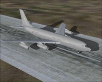 Screenshot of HJG Boeing 707 T/T on runway.