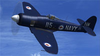 Screenshot of Hawker Sea Fury RAN in flight.