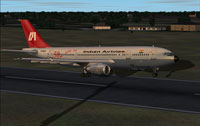 Screenshot of Indian Airlines A300B4 taking off.