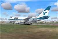 Screenshot of Iran Boeing 747SP on the ground.
