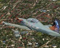 Screenshot of Iris Pilatus PC-9A ASA50 in flight.