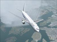 Screenshot of Israir Boeing 767-3Y0ER in flight.