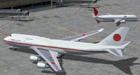Screenshot of Japan Air Force One on the ground.
