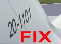 Screenshot of fixed tail wing texture.