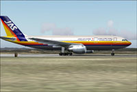 Screenshot of Japan Air System Airbus A300B4 on the ground.