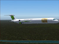 Screenshot of Jetsgo McDonnell Douglas MD-83 in flight.