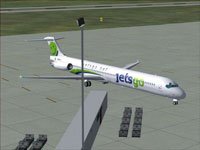Screenshot of Jetsgo McDonnell Douglas MD-83 on the ground.
