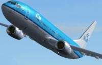 Screenshot of KLM Boeing 737-800 in flight.