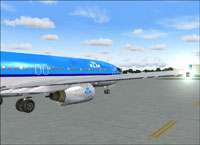 Screenshot of KLM Boeing 737-900 on the ground.