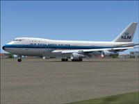 Screenshot of KLM Boeing 747-206B on the ground.