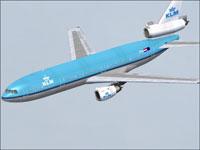 Screenshot of KLM Douglas DC-10-30 in flight.
